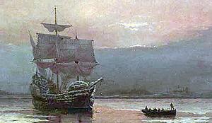 300px-MayflowerHarbor