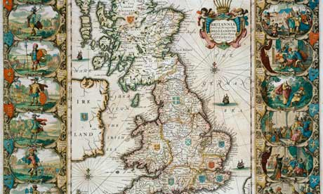 Map of Great Britain Surveyed by John Speed and Engraved by Jocodus Hondius